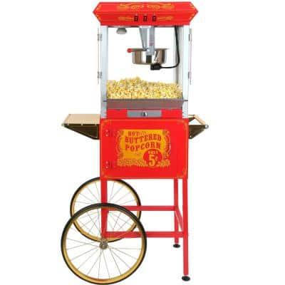 Sideshow Popper 8 oz. Popcorn Machine & Cart