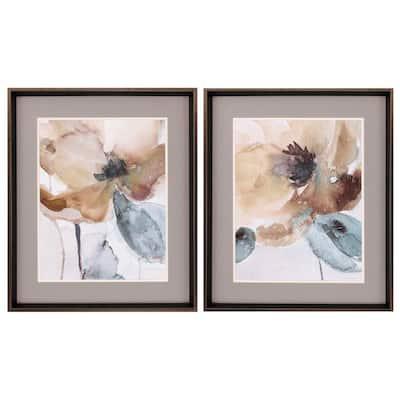 """""""Watercolor Poppy S/2"""" Framed Wall Art 27 in. x 23 in."""