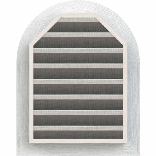 Ekena Millwork 35 X 33 Round Top Primed Rough Sawn Western Red Cedar Wood Gable Louver Vent Functional Gvwrt30x2800rfpwr The Home Depot