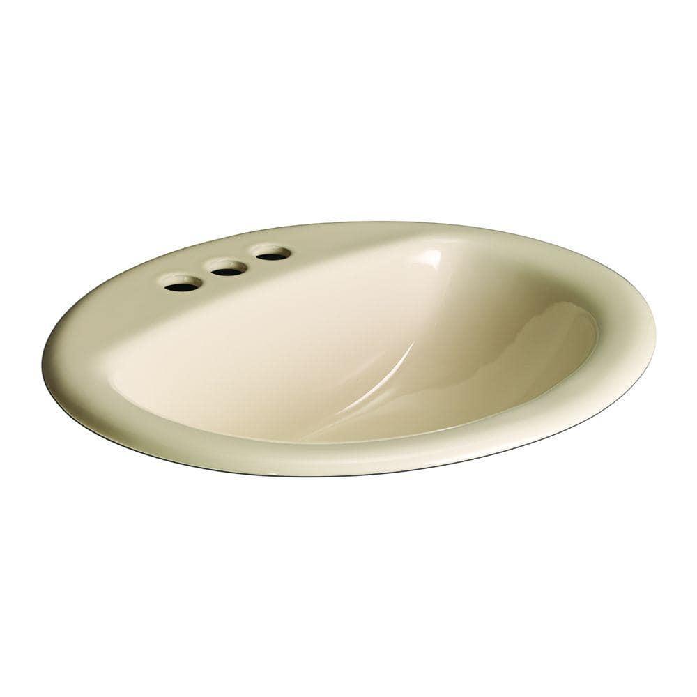 Glacier Bay Aragon Self Rimming Drop In Bathroom Sink In Bone 13 0012 4bhd The Home Depot