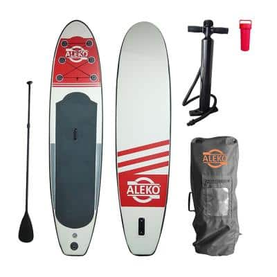 10.5 ft. Red Inflatable Paddle Board with Carry Bag