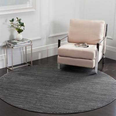 Vision Gray 9 ft. x 9 ft. Round Area Rug