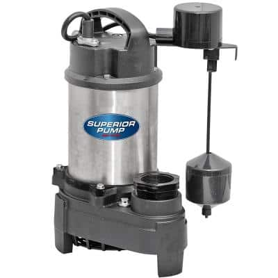 92571 1/2 HP Submersible Stainless Steel / Cast Iron Sump Pump