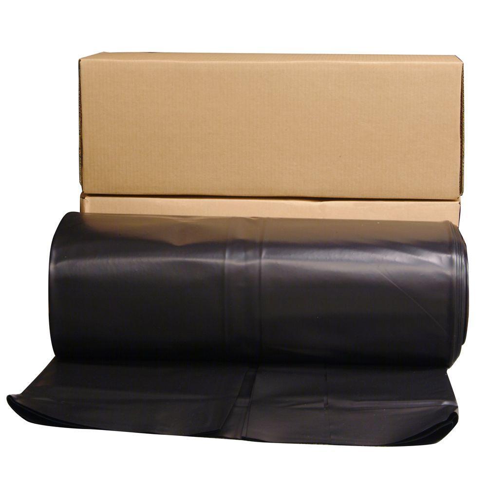 24 ft. x 100 ft. Black 6 mil Plastic Sheeting