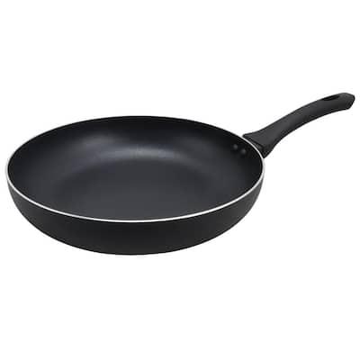 Ashford 12 in. Aluminum Nonstick Frying Pan in Black