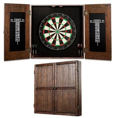 Webster Bristle Dart Board and Solid Wood Cabinet Set