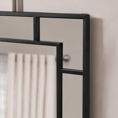 Medium Rectangle Black Classic Accent Mirror (36 in. H x 24 in. W)