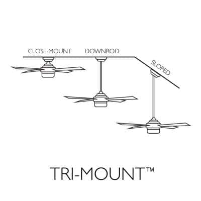 Treviento 52 in. Indoor Satin Nickel LED Ceiling Fan with Light with Wall Control