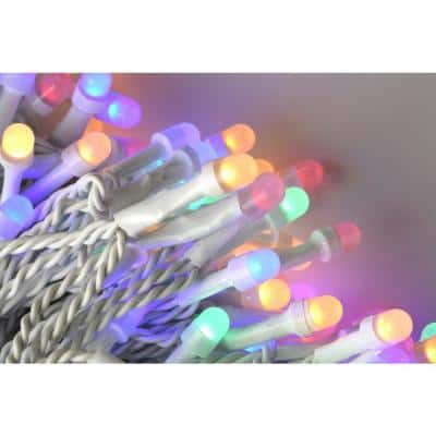 200 Light 8 mm Mini Globe Multi Color LED Icicle String Lights with Wireless Smart Control