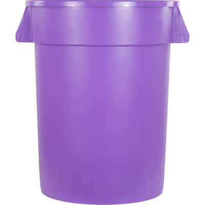 Bronco 32 Gal. Purple Round Trash Can (4-Pack)