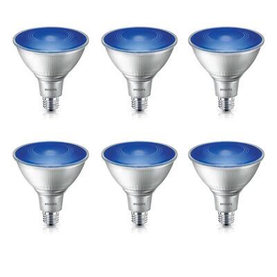 90-Watt Equivalent PAR38 LED Flood Blue (6-Pack)