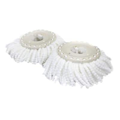 Plastic Replacement Dust Mop Micro Head Spin Mop(2-Pieces)