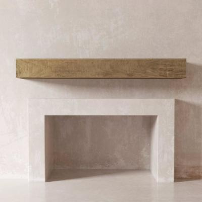 DESSIE 36 in. Fireplace Wall Cap-Shelf Mantel in Natural