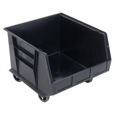 Ultra Series Stack and Hang 30 Gal. Storage Bin in Black (3-Pack)