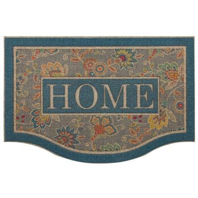 Cozy Jacobean Slate Impressions 24 in. x 36 in. Door Mat