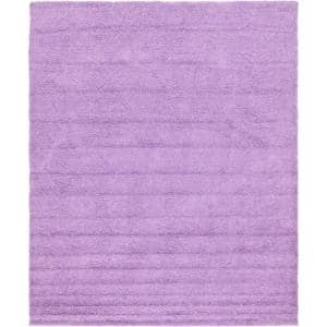 Solid Shag Lilac 12 ft. x 15 ft. Area Rug