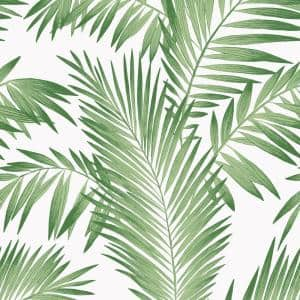 Tropical Palm Paper Non-Pasted Wallpaper Roll (Covers 57 Sq. Ft.)