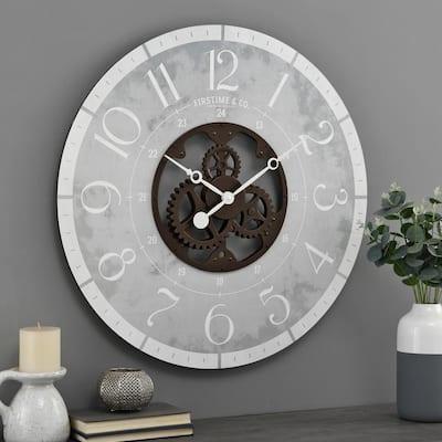 27 in Bronze Carlisle Gears Clock