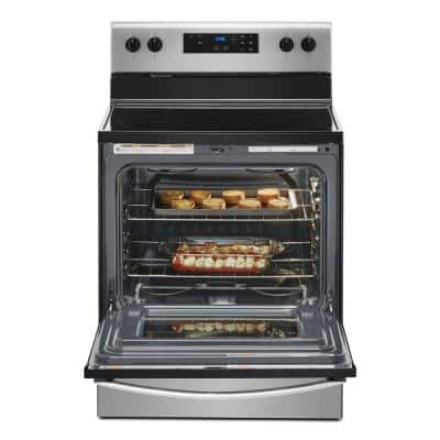30 in. 5.3 cu. ft. 4-Burner Electric Range in Stainless Steel with Storage Drawer