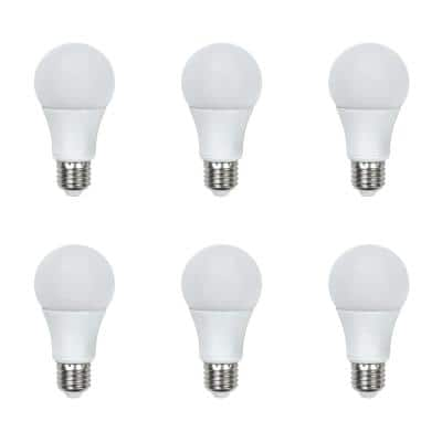 60-Watt Equivalent A19 General Purpose LED Light Bulb Daylight (6-Pack)