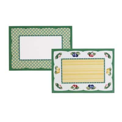 French Garden 20 in. W x 14 in. L Multi-Color Print Placemats (Set of 4)