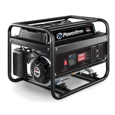 2,500-Watt Recoil Start Gasoline Powered Portable Generator with Briggs & Stratton Engine Featuring CO Guard