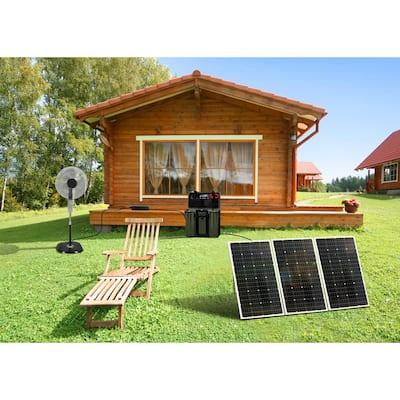 330-Watt Polycrystalline Solar Power Kit with 3 x 110-Watt Panels, 750-Watt Power Inverter and 30 Amp Charge Controller