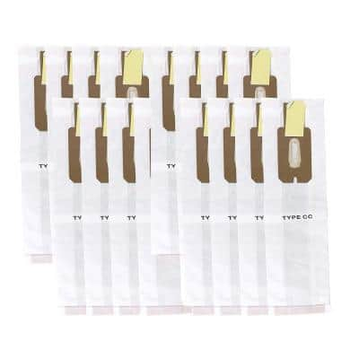 Paper Bags Replacement for Oreck CC, Compatible with Part CCPK8 and CCPK8DW (16-Pack)