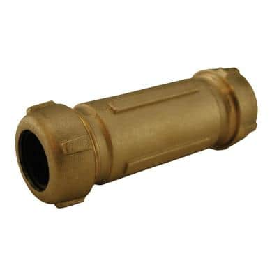 1-1/2 in. CTS or 1-1/4 in. IPS Bronze Coated Brass Compression Coupling (5 in. Length) for Pipe Repair