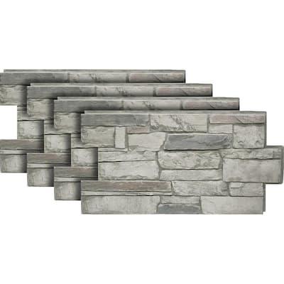 Ledgestone #60 Cascade Canyon 24 in. x 48 in. Stone Veneer Panel (4-Pack)