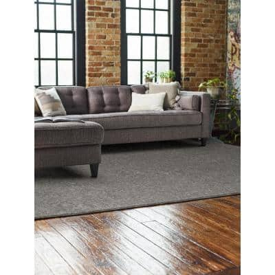 Woven Fringe - Color Nightfall Residential 9 in. x 36 in. Peel and Stick Carpet Tile (8 Tiles / Case)