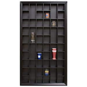 Gallery Solutions 17.9 in. W x 2.7 in. D Black Shot Glass Decorative Shelf
