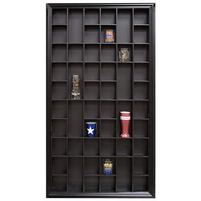 Gallery Solutions 17.9 in. W x 2.7 in. D Black Shot Glass Decorative Shelf
