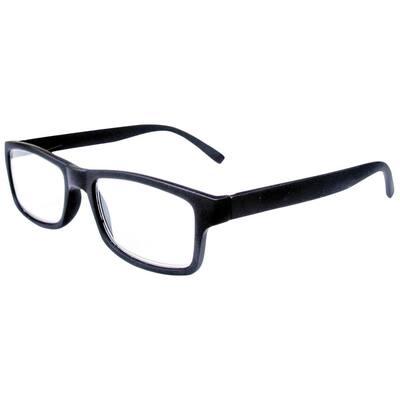 Reading Glasses Retro Black 2-Pair 2-Cases 2.0 Magnification