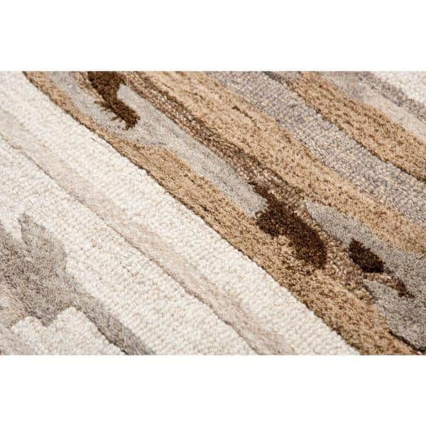 Flare Beige Brown 8 Ft X 10 Ft Abstract Hand Tufted Wool Area Rug Flafr100000040810 The Home Depot