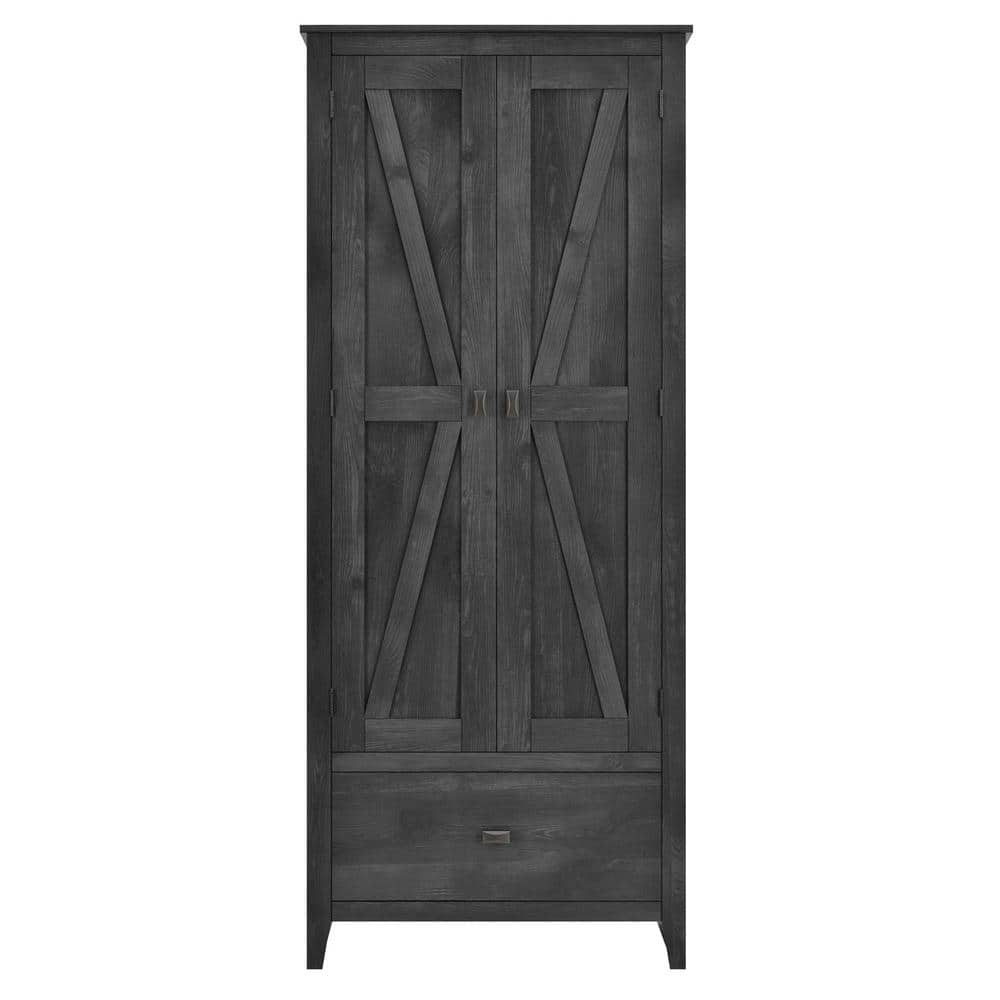 Systembuild Brownwood 30 In W Storage Cabinet In Rustic Gray Hd75803 The Home Depot