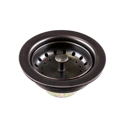 3-1/2 in. Drop-In Kitchen/Bar Sink Basket Strainer Oil Rubbed Bronze