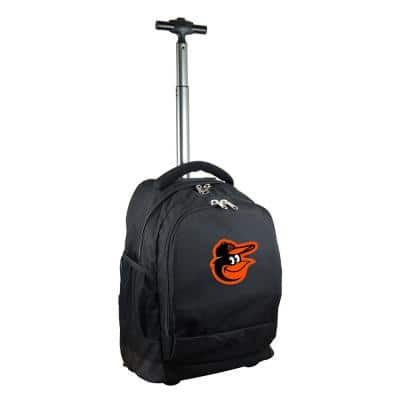 MLB Baltimore Orioles 19 in. Black Wheeled Premium Backpack