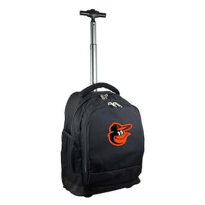 MLB Baltimore Orioles 19 in. Black Wheeled Premium Backpack