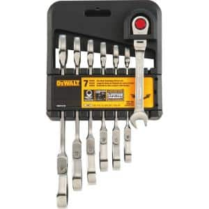 SAE Ratcheting Flex Head Combination Wrench Set (7-Piece)
