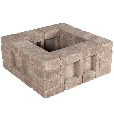 RumbleStone 33 in. x 14 in. x 33 in. Square Concrete Planter Kit in Cafe