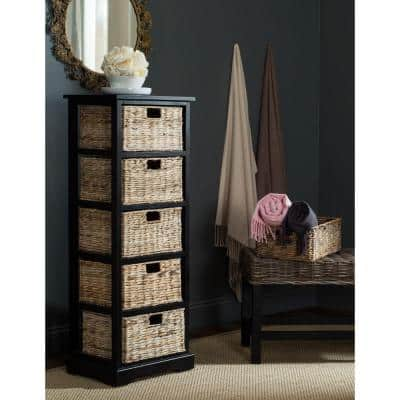 Vedette Distressed Black Storage Chest