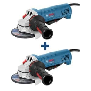 10 Amp Corded 4-1/2 in. Angle Grinder with Paddle Switch (2-Pack)