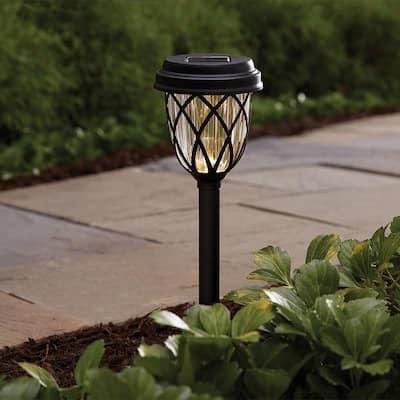 Solar Black LED Path Light (10-Pack)