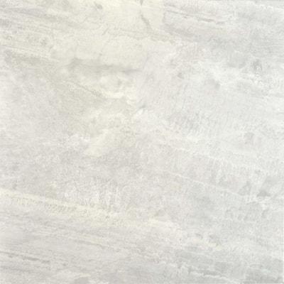 Take Home Sample - Light Grey Travertine Peel and Stick Vinyl Tile Flooring - 5 in. x 7 in.