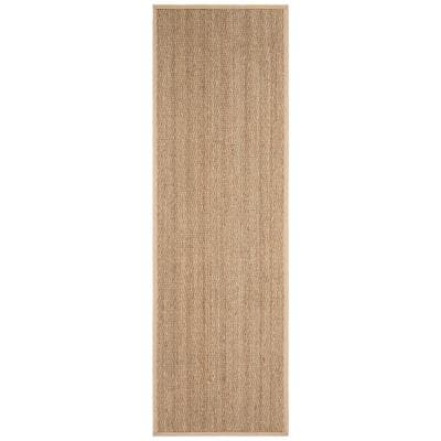 Natural Fiber Tan/Beige 3 ft. x 8 ft. Indoor Runner Rug