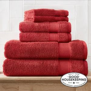 6-Piece Hygrocotton Towel Set in Chili