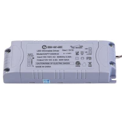 12-Volt DC 30-Watt 2.5 Amp Dimmable Power Cord Supply Transformer for LED Lighting
