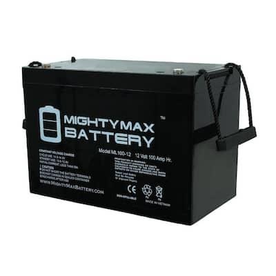 12-Volt 100 Ah Rechargeable Sealed Lead Acid (SLA) Battery