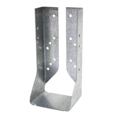 HUC Galvanized Face-Mount Concealed-Flange Joist Hanger for Double 2x8 Nominal Lumber